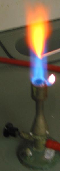 رنگ شعله کلرید کلسیم